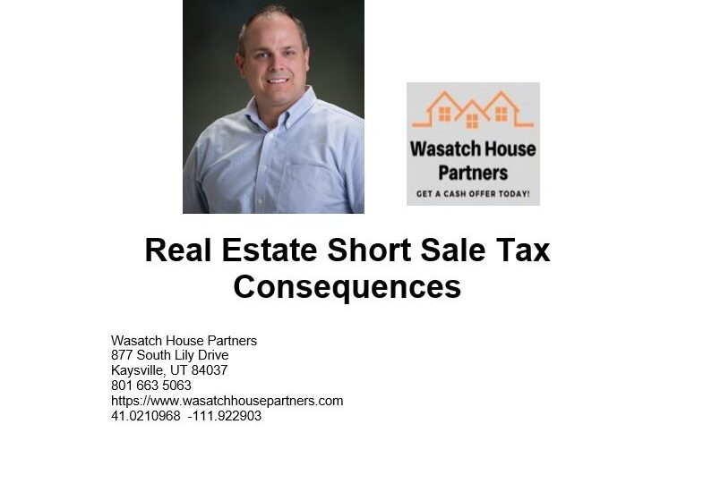 Real Estate Short Sale Tax Consequences