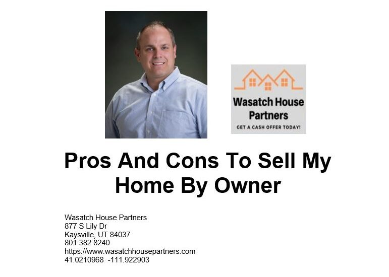 Pros And Cons To Sell My Home By Owner